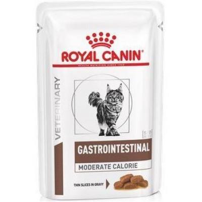 купити Royal Canin Gastro Intestinal Moderate Calorie CAT лікувальні консерви для котів при порушеннях травлення зі зниженим вмістом калорій в Одеси