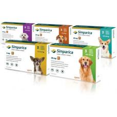 Simparica (Сімпаріка) засіб від бліх і кліщів для собак, ціна вказана за 1 таблетку