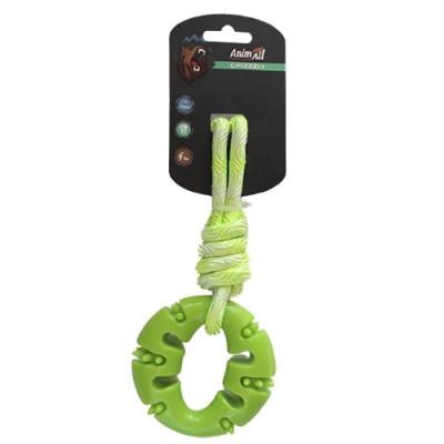 купити AnimAll (ЕнімАлл) GrizZzly Іграшка кільце з канатом для собак в Одеси