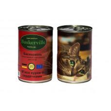 Baskerville (Баскервіль) М'ясо курки з сердечками для котів