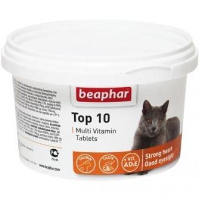Мультивитамины Beaphar (Бифар) Top 10 для кошек, 180 табл.