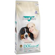 BonaCibo Adult Dog Form з м'ясом курки, анчоусами та рисом для дорослих собак із зайвою вагою та для старіючих собак (9+)