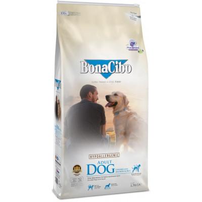BonaCibo Adult Dog Chiken з м'ясом курки, анчоусами та рисом для дорослих собак всіх порід