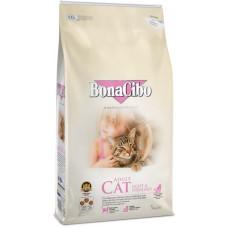 BonaCibo Adult Cat Light&Sterilized з м'ясом курки, анчоусами та рисом для дорослих стерилізованих котів та котів із зайвою вагою