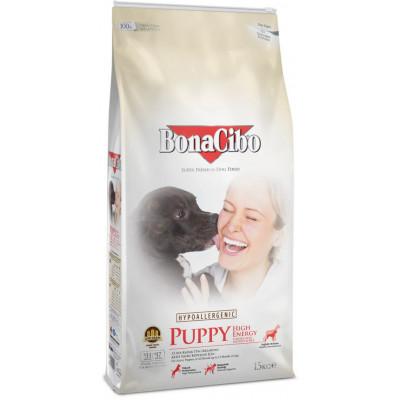 купити BonaCibo Puppy High Energy з м'ясом курки, анчоусами та рисом для активних цуценят всіх порід до 12 місяців в Одеси