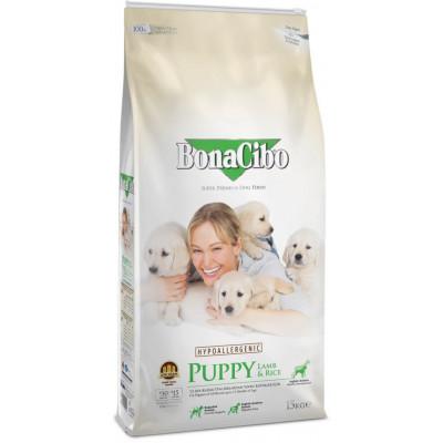 купити BonaCibo Puppy Lamb&Rice з м'ясом ягняти та рисом для цуценят всіх порід до 12 місяців в Одеси
