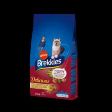 Brekkies (Бреккіз) Cat Delice Meat - корм для дорослих кішок з куркою