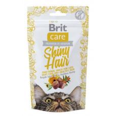 Brit Care Functional Snack Shiny Hair Ласощі для здорової шкіри і шовковистої шерсті 50 г