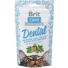 Brit Care Functional Snack Dental ласощі для здоров'я зубів і ясен для кішок, 50 г