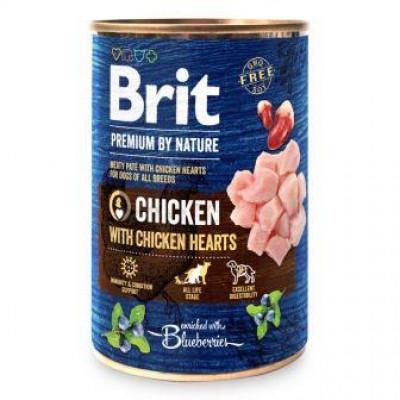 купити Brit Premium by Nature курка з курячим серцем в Одеси
