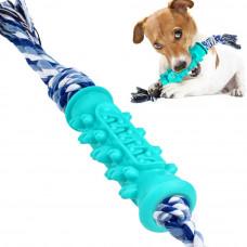 Bronzedog PetFun Dental Кістка з канатом іграшка для собак, 14,5 х 4 см