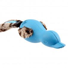 BronzeDog (Бронздог) Forestails Іграшка для Собак Качка з Плюшевим Хвостом і Відключаючимся Звуком Синя 30 cм