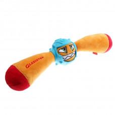 BronzeDog (Бронздог) Іграшка для Собак Gladiator в Гумовому Шоломі з пискавкою Жовтий 41 см