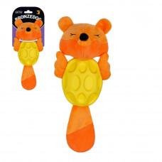 BronzeDog Jumble Мяка Звукова Лисиця іграшка для собак 27 см