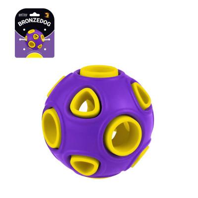 купити Bronzedog Jumble Airball фіолетово-жовтий іграшка для собак в Одеси