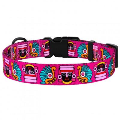 купити BronzeDog Urban Нашийник для собак Маска нейлоновий c пластиковою пряжкою рожевий в Одеси