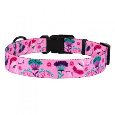 купити BronzeDog Urban Нашийник для Собак Квіти Нейлоновий c Пластиковою Пряжкою рожевий в Одеси