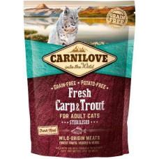 Carnilove Cat Fresh Carp & Trout Sterilised for Adult для стерилізованих кішок з коропом і фореллю