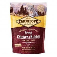 Carnilove Fresh Chicken & Rabbit Gourmand for Adult cats для дорослих котів з куркою і кроликом