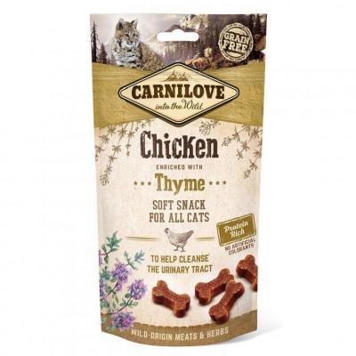 купити Carnilove Chicken with Thyme Напівм'які ласощі для кішок з куркою і чебрецем для очищення сечовивідних шляхів 50 г в Одеси