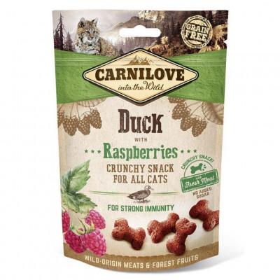 купити Carnilove Duck with Raspberries Ласощі для кішок з качкою і малиною для імунітету 50 г в Одеси