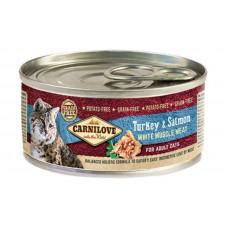 Carnilove (Карнилав) Turkey & Salmon for Adult Cats  влажный корм с индейкой и лососем для взрослых котов, 100 гр