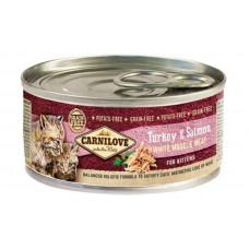 Carnilove (Карнилав) Turkey & Salmon for kittens влажный корм с индейкой и лососем для котят, 100 гр