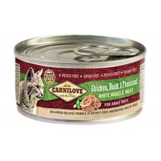 Carnilove (Карнилав) Chicken, Duck & Pheasant for Adult Cats влажный корм с мясом курицы, утки и фазана для взрослых котов, 100 гр