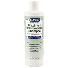 Davis Maximum Chlorhexidine Shampoo ДЕВІС МАКСИМУМ ХЛОРГЕКСИДИН шампунь з 4% хлоргексидином для собак і котів  з захворюваннями шкіри і шерсті