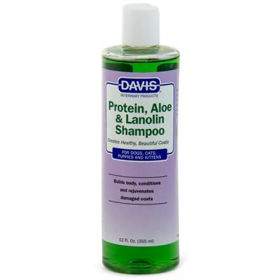 купити Davis Protein & Aloe & Lanolin Shampoo ДЕВІС ПРОТЕЇН АЛОЕ ЛАНОЛІН шампунь для собак, котів, концентрат в Одеси