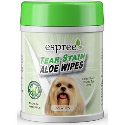 Espree TEAR STAIN Aloe Wipes Серветки для догляду за шерстю навколо очей собак 60 шт