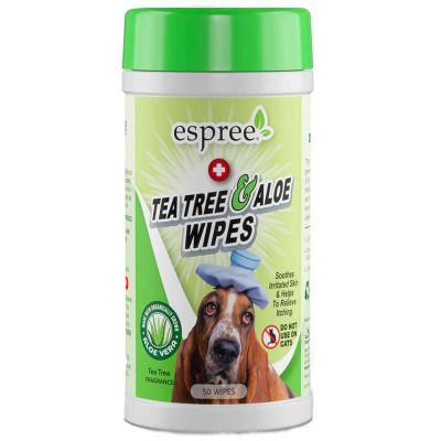 купити Espree (Еспрі) Tea Tree and Aloe Healing Wipes Вологі серветки для собак з проблемною шкірою в Одеси