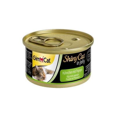 купити GimCat Shiny Cat з куркою та папаєю, 70 г в Одеси