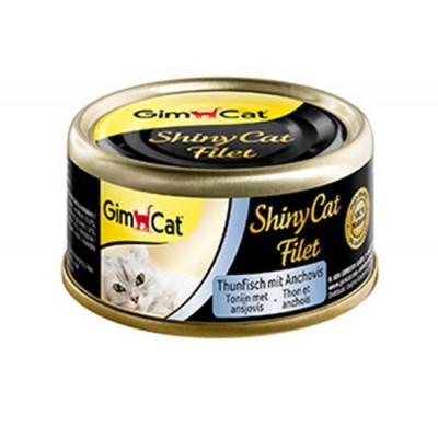 купити GimCat Shiny Cat Filet з тунцем і анчоусами, 70 г в Одеси