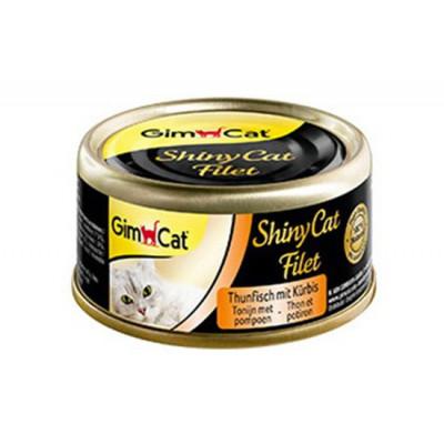 купити GimCat Shiny Cat Filet з тунцем і гарбузом, 70 г в Одеси