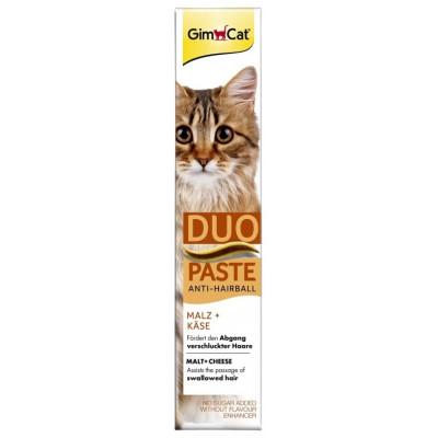 купити GimCat Anti-Hairball Duo-Paste Cheese+Malt Паста для виведення шерсті з сиром та солодом 50 гр в Одеси