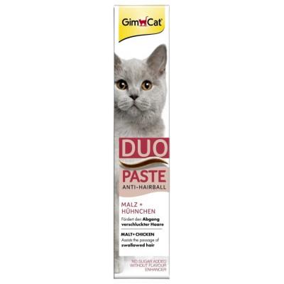 купити GimCat Anti-Hairball Duo-Paste Chicken+Malt Паста для виведення шерсті у котів з куркою та солодм 50 гр в Одеси