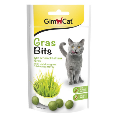 купити GimCat Gras BitsВітамінізовані ласощі для котів з натуральною травою в Одеси