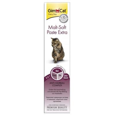 купити GimCat Malt-Soft Paste Extra Паста для виведення шерсті та покращення моторики шлунку у котів в Одеси
