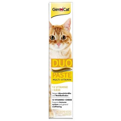 купити GimCat Multi-Vitamin Duo-Paste Cheese+12 Vitamins Мультивітамінная паста для котів з сиром 50 гр в Одеси