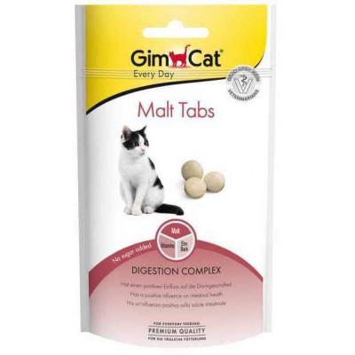 купити GimCat Every Day Malt Tabs Таблетки из солода для поддержания здоровья кишечника у котов 40г в Одеси