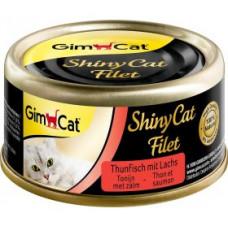 Gim Shiny Cat Filet консерва з філе тунця і лосося для котів