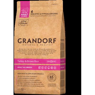 Grandorf Turkey & Brown Rice Adult All Breeds індичка з бурим рисом для дорослих собак всіх порід