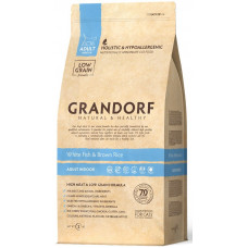 Grandorf White fish & Brown Rice ADULT INDOOR - біла риба для дорослих кішок