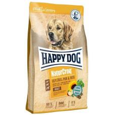 Happy Dog Naturcroq Geflugell Pur&Reis  для дорослих собак всіх порід з птицею та рисом