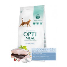 Optimeal (Оптимил) сухой корм для взрослых кошек с высоким содержанием трески