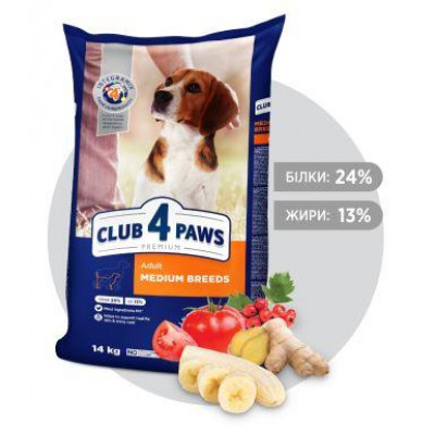 КЛУБ 4 ЛАПЫ для собак средних пород