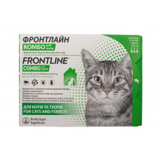Frontline Combo (Фронтлайн Комбо) краплі від блох і кліщів для кішок (3 пип.)