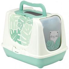 Moderna Trendy Cat Eden МОДЕРНА ЕДЕМ закритий туалет для котів c вугільним фільтром і совком, 50х39,5х37,5