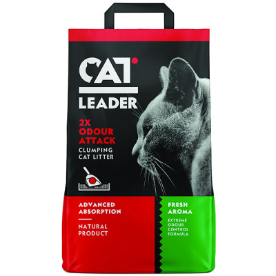 купити Кет Лідер (CAT LEADER) Подвійна свіжість ультра-комкуючийся наповнювач в котячий туалет в Одеси